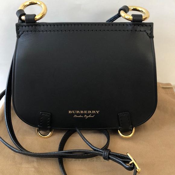 4c8aa12ac79a New Burberry Baby Bridle Bag Black Crossbody